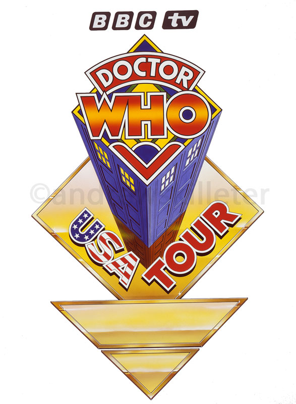 Dr Who USA Tour Logo Graphic for Rear Door
