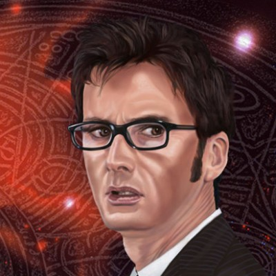 The tenth Doctor~David Tenant Aluminium Print