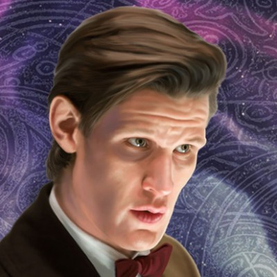 The Eleventh Doctor~Matt Smith Aluminium Print
