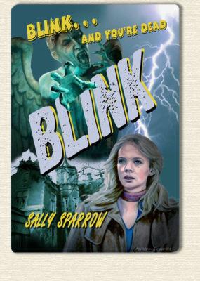Blink ~ Retro style Poster Design ~ Aluminium Print