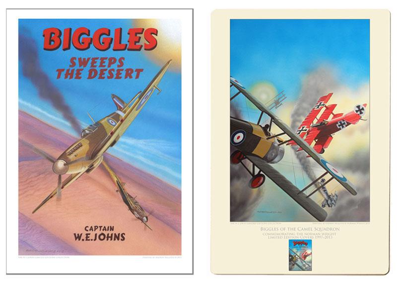 Biggles Sweeps the Desert Archival Print & Biggles of the Camel Squadron Aluminium Print